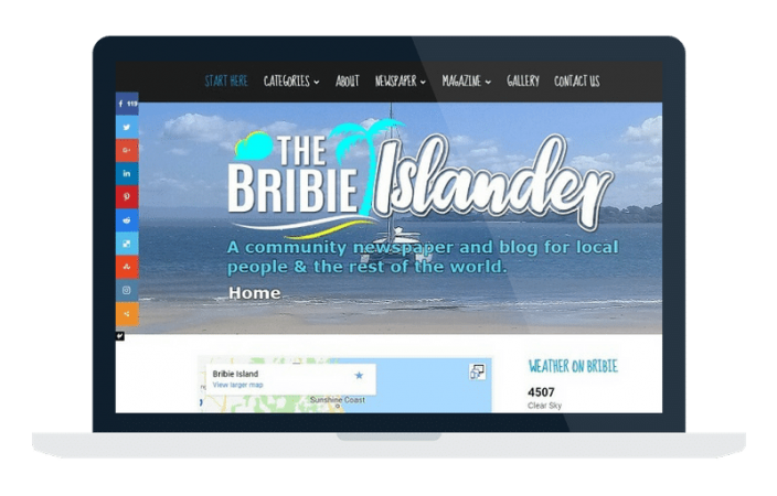 Web Design Portfolio – The Bribie Islander Blog
