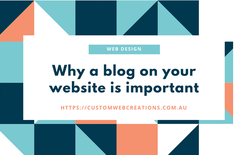 Why a blog is important