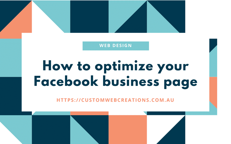 optimize your socail media facebook business page