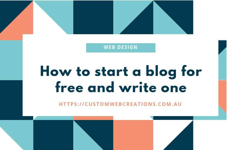How to start a blog for free and write one