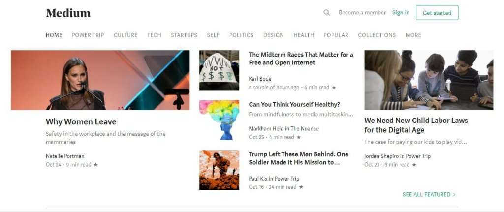 medium - how to start a blog for free - 1