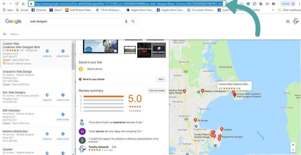 google business listing brisbane