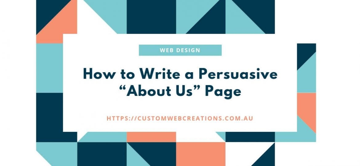 how to write an about us page website design